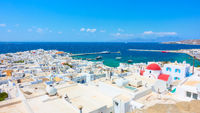 Mykonos town (Chora) by the sea