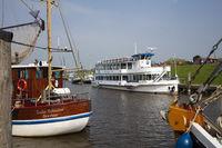Ship at the harbor of Greetsiel