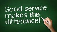 Good Service makes the difference Chalk Illustrati