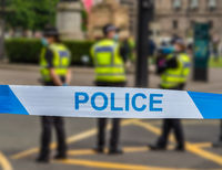Glasgow Police At An Incident