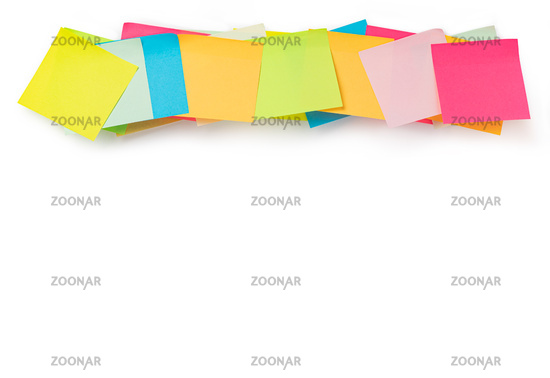 Colorful stickers on a white background