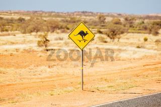 Kangaroo Sign in Northern Territory Australia