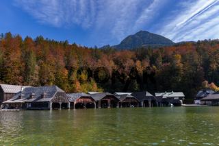 Bootshäuser am Königssee