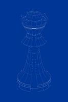 3d model of chess queen