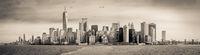 Sepia Manhattan Panorama