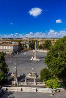 Square Piazza del Popolo in Rome Italy