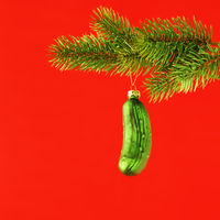 typical Christmas gherkin decoration