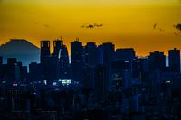 Sunset from the Bunkyo Civic Center