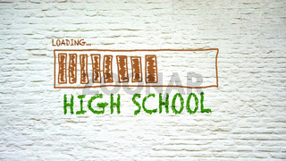 Street Sign to High School