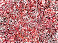 Abstract grey red circles illustration background