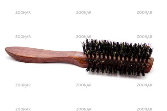 Brown hairbrush