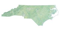 High resolution topographic map of North Carolina