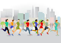 Running in the city  illustration