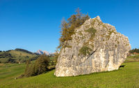 Giant rock on Seiser Alm, Alpe di Siusi, South Tyrol