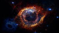 Helix Nebula - God's Eye. Elements of this image furnished by NASA
