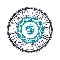City of Seattle, Washington vector stamp