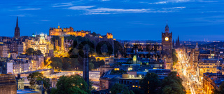 Edinburgh Panorama sunset