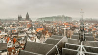 Aerial view over Amsterdam
