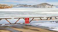 boat ramp closed for winter on Horsetooth Reservoir
