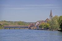Diessenhofen with Rhine Bridge and City Church