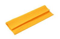 Orange ribbed cotton placemat