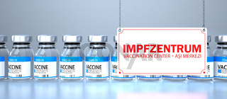 Vaccine Bottles Impfzentrum