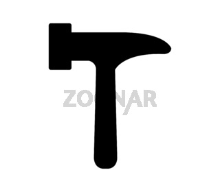 hammer icon illustrated in vector on white background