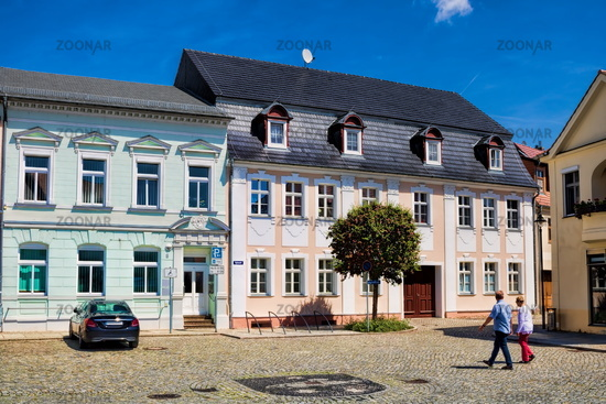 lübbenau, germany - 23.05.2019 - square in the historic old town