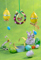 Easter eggs and cookie molds.