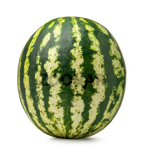 Ripe green watermelon