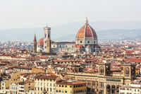 Duomo and view of Florence in Italy