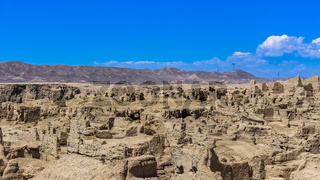 Jiaohe is a ruined city in the Yarnaz Valley, was once the capital of the Jushi Kingdom