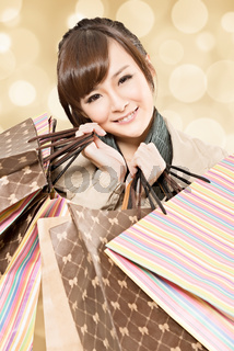 smiling shopping girl
