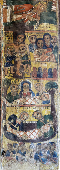 Descent from the cross and Entombment of Christ, church Abreha wa Atsbaha, Gheralta region, Ethiopia
