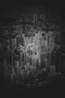 Hong Kong skyline visible from the observatory of Sky100