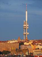 tower in Zizkovl, Prague, Czech Republic