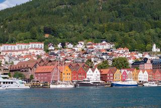 Bergen bryggen view