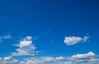 Clouds in blue sky background