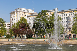 Magdeburg, Springbrunnen am Ulrichplatz
