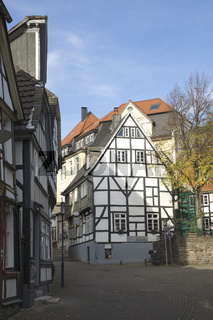 Häuser im Malerwinkel von Hattingen, NRW, Deutschland