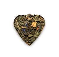 Tea in the shape of a heart