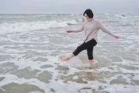 woman in shore