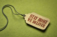 stay home, we deliver on a price tag