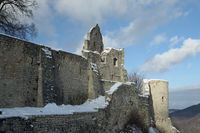 ruins hohenurach in Bad Urach, swabian alb, germany