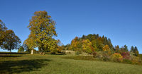 autumn landscape near the kornbühl, swabian alps, germany
