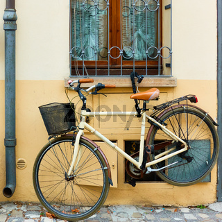 Bicycle parked near home