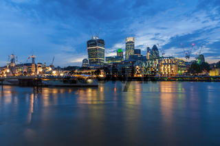 City of London bei Nacht