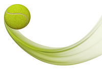 Tennis ball flying, Illustration of tennis ball in motion