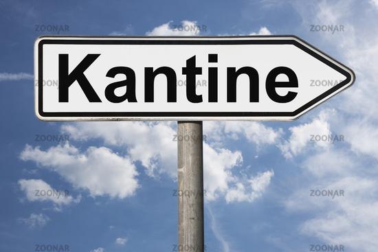 Wegweiser Kantine | signpost Kantine (Cafeteria)