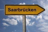 Wegweiser Saarbrücken | signpost Saarbrücken